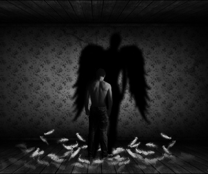 fallen angel, angel, and art image