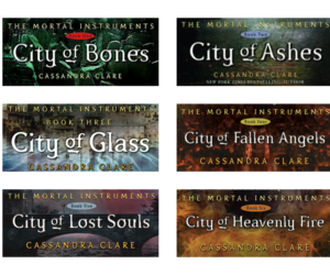 book, cover, and the mortal instruments image