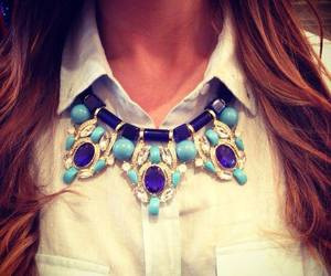 girl, necklace, and statement image