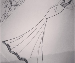 drawing, fashion, and dresses image