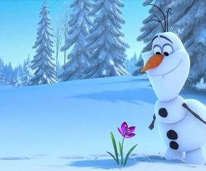 olaf, frozen, and flower image