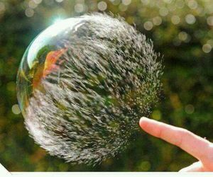 bubble, finger, and perfect image