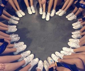 cheerleading, cheer, and cheerleader image