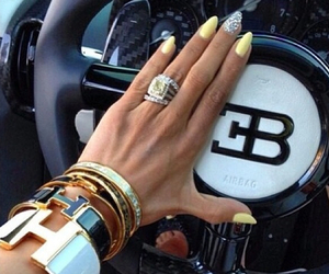 car, nails, and gold image