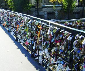 love, lock, and paris image