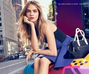 dkny, cara delevingne, and model image