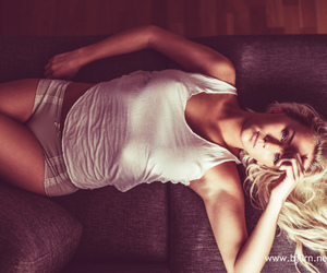 blond, model, and panties image
