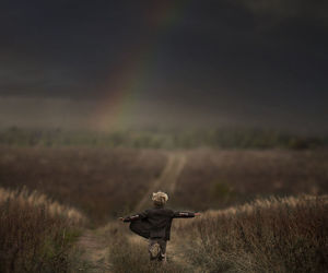 rainbow, child, and boy image