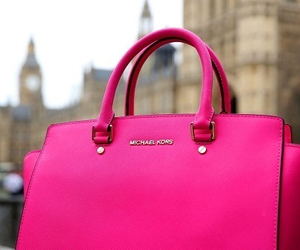 pink, bag, and Michael Kors image