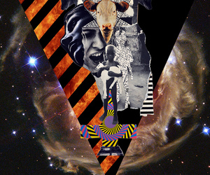 Collage, fire, and demons image