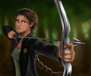 cartoon, player, and mockingjay image