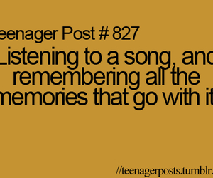 teenager post, memories, and song image
