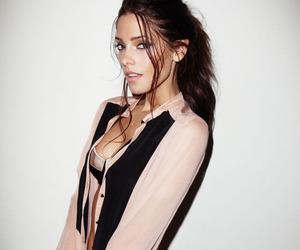 brunette, makeup, and fashion image