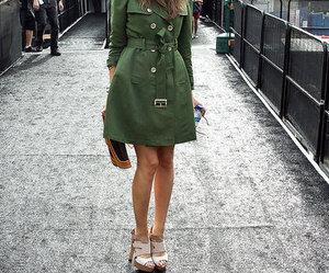 coat, fashion, and green image