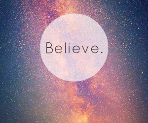 background, believe, and galaxy image