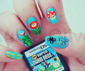 nails, mario, and nintendo image