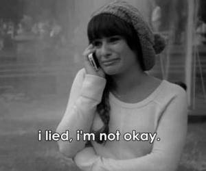 glee, sad, and lea michele image