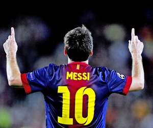 10, Barcelona, and lionel messi image