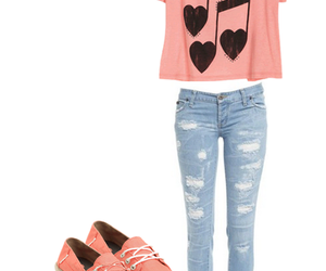 jeans, shoes, and music image