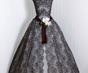 lace, dress, and gown image