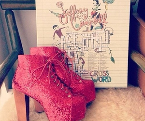 jeffrey campbell, pink, and shoes image