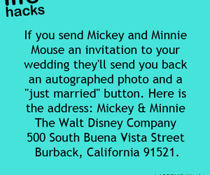 life hacks, mickey, and minnie image