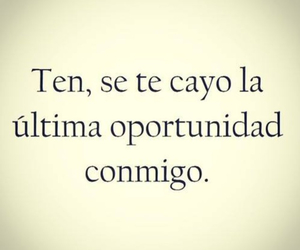 love, frases, and oportunidad image