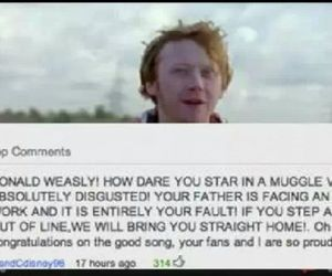 harry potter, ron weasly, and ed sheeran image