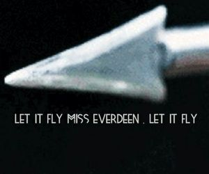 hunger games, katniss everdeen, and let it fly image