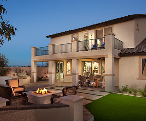 soft color, exterior design, and back yard terrace image