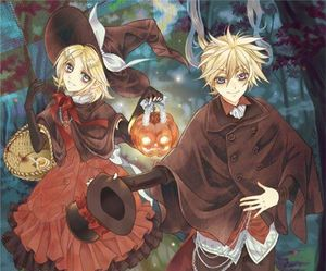 anime, len, and Halloween image