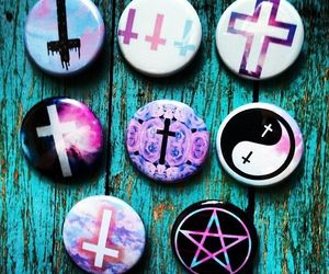 pastel goth, cross, and grunge image