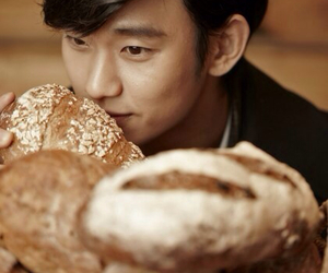 kim soo hyun and bread image