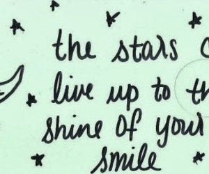 quote, stars, and smile image
