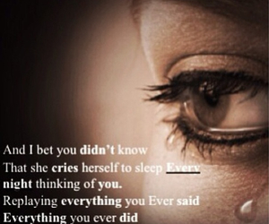 crying, love quotes, and quotes image