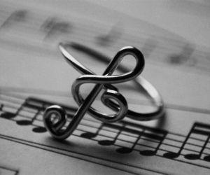 music, ring, and note image