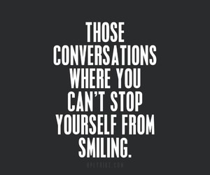 love, smile, and conversations image