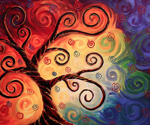 abstract, beautiful, and rainbow image