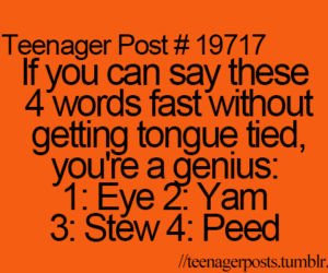 funny, teenager post, and genius image