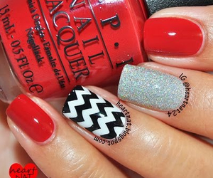 nails, red, and chevron image