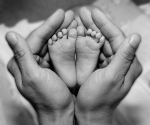 baby, feet, and hands image