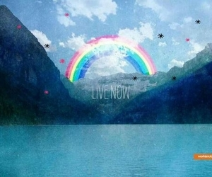 rainbow and live now image