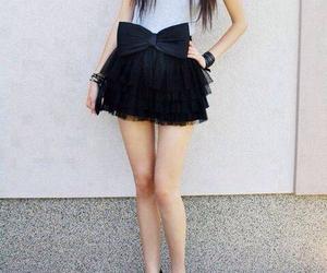 skirt, dress, and black image