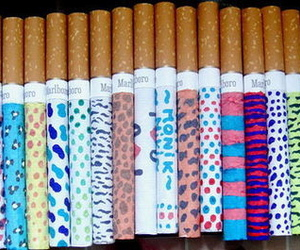 art, cigarette, and fags image