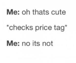 funny, price tag, and shopping image