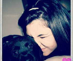 girl, labrador, and puppy love image