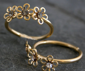 gold jewelry, weddings, and gold ring image