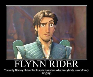 disney, flynn rider, and tangled image