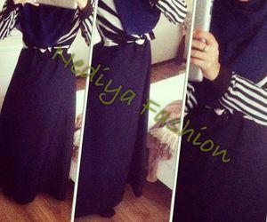 fashion, hijab, and skirt image