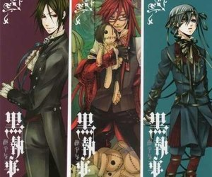 black, black butler, and phantomhive image